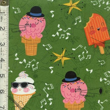 Bessie and The Dairyinettes Ice Cream Cones- Green