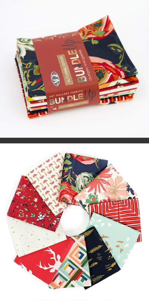 Art Gallery Bundle Up Autumnal Fat Quarter Bundle 10PC