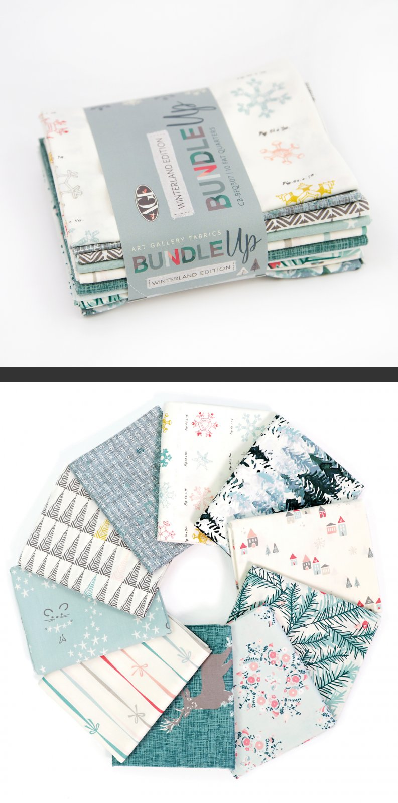 Art Gallery Bundle Up Winterland Fat Quarter Bundle 10PC