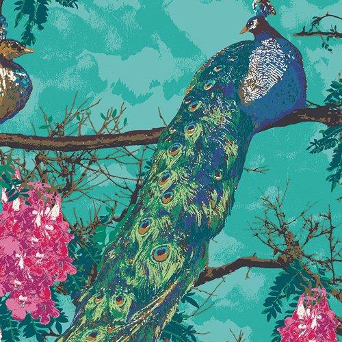Art Gallery Decadence Florid Peacocks Lush