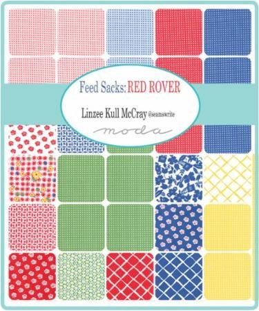Feed Sacks Red Rover Charm Pack