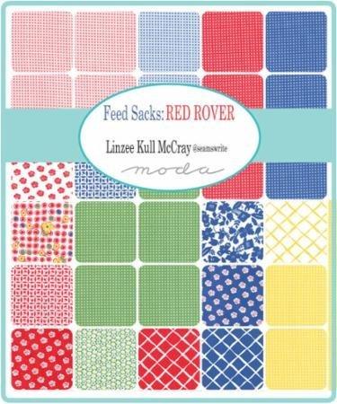 Feed Sacks Red Rover 30 PCS