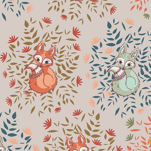 Autumn Vibe Foxes In Fall - Maureen Cracknell for Art Gallery Fabrics