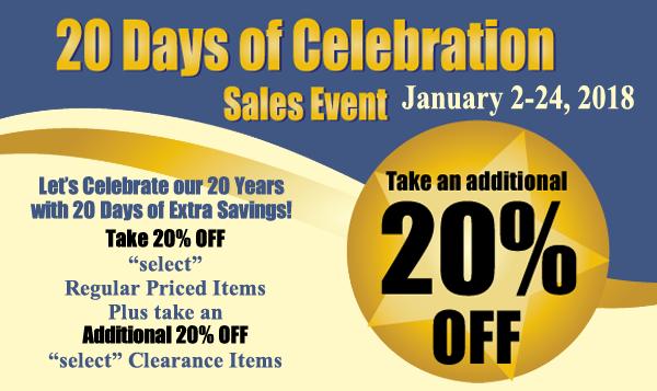 20 days of celebration