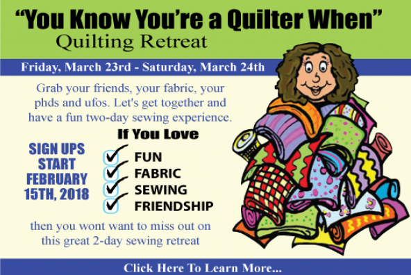 you know youre a quilter when