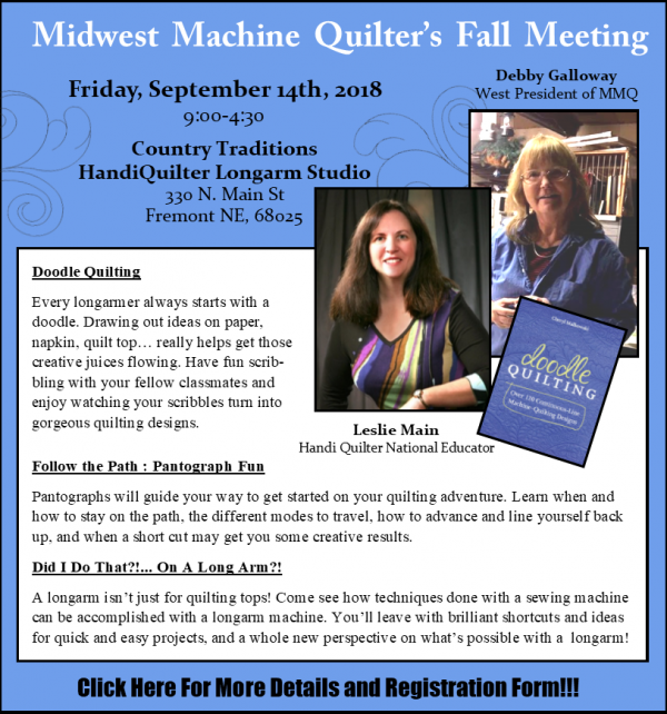 Midwest Machine Quilter's Fall Meeting