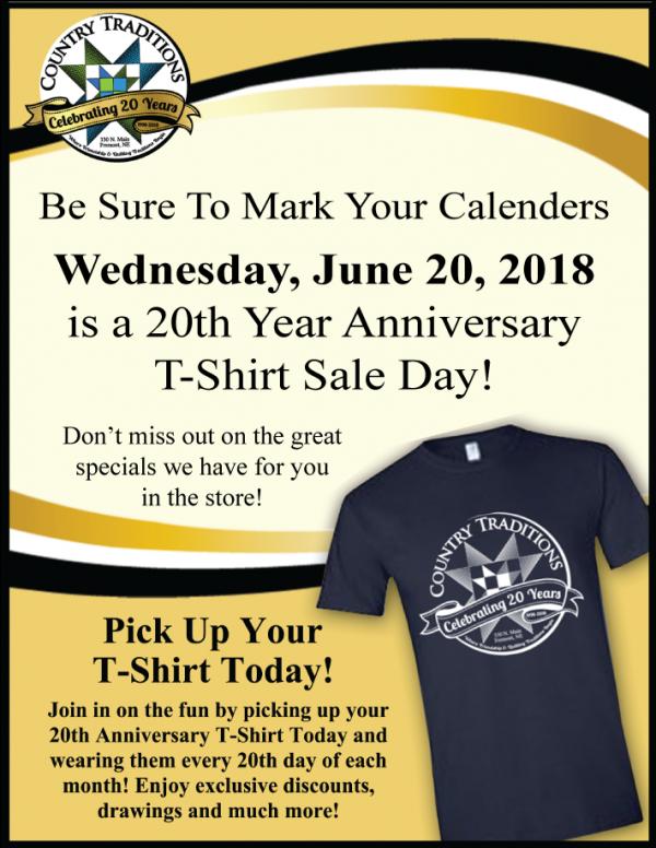 June 20th Sale day