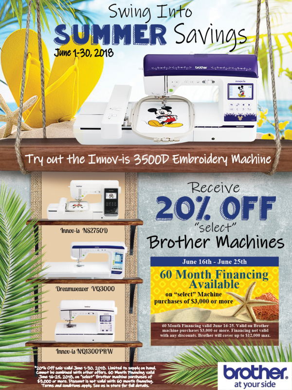 Brother promo june 2018