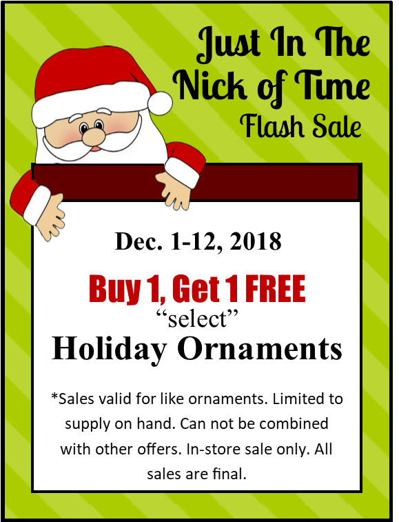 Just in The Nick Of Time Flash Sale
