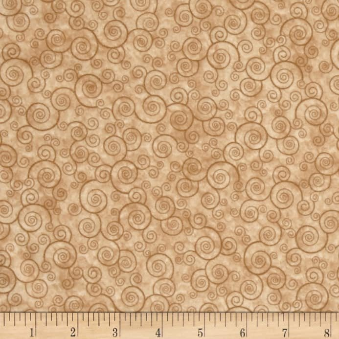 Harmony Flannel Curly Scroll Camel 1698-24778-EAFLN-120