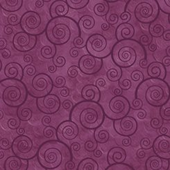 Harmony Curly Scroll Plum Velvet 1649-24778-VM-120