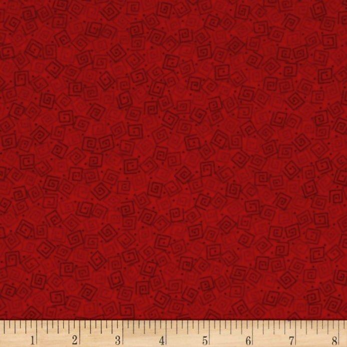Harmony Flannel Squares Crimson 1698-24779-RFLN-120