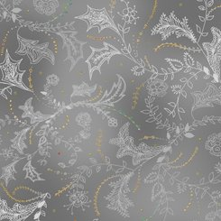 Enchanted Floral - Floral & Vine Toile Gray 1649-26776-K-150