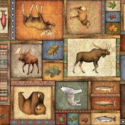Timberland Trail Animal Collage Multi 1649-26805-X-150