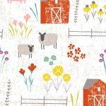 Wildflower Farm White Scenic 4325-8