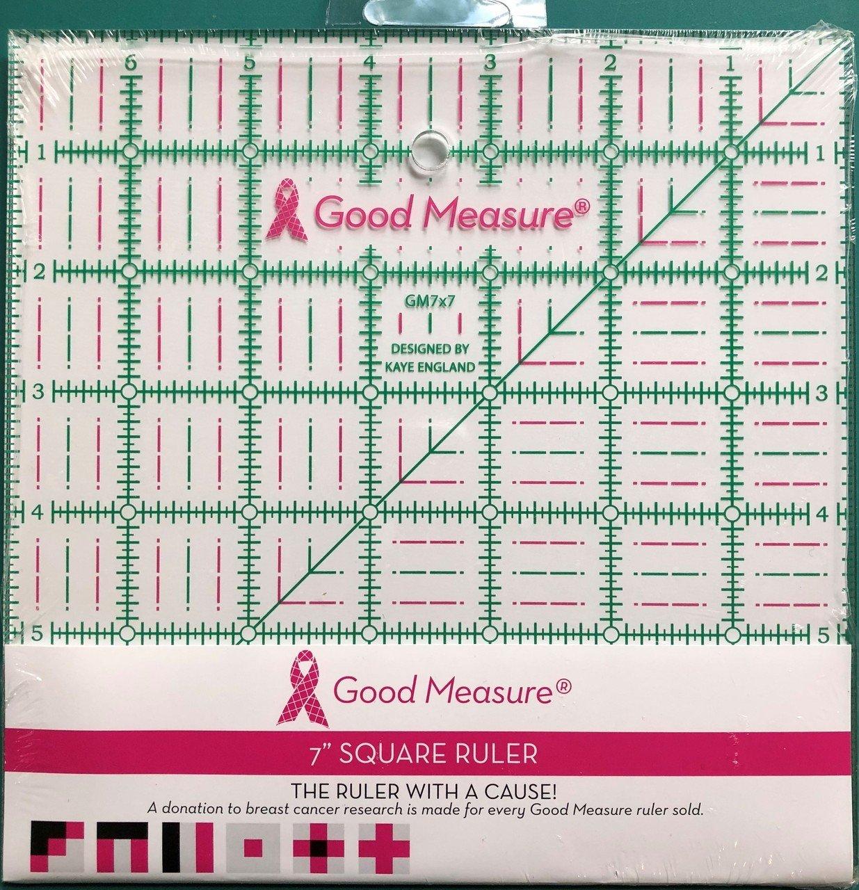 Good Measure 7 in X 7 in Ruler
