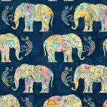 WP Navy Bohemian Dreams Elephant 89191-454