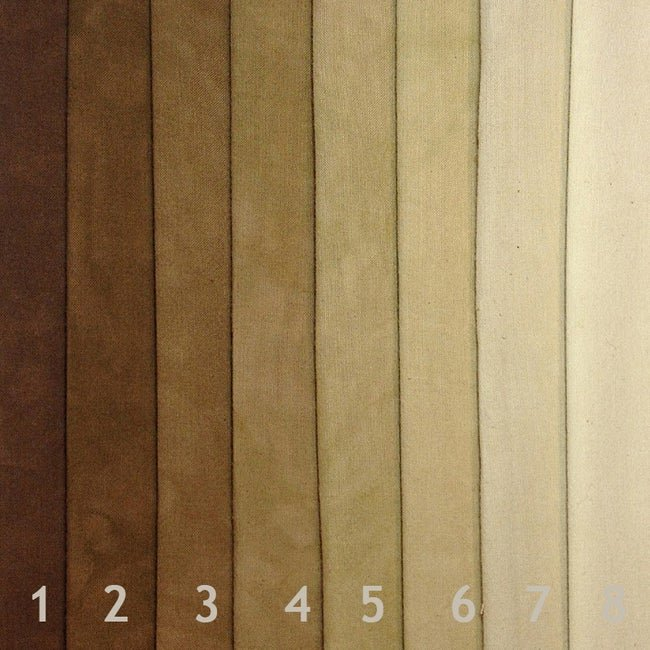 Cherrywood Chesnut to Light 8 step Fat Quarter bundle