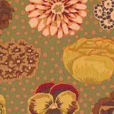 Big Blooms-brown Kaffe Fassett