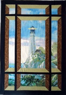Quilt Woman Modern Window Quilt pattern by Barb Sackel