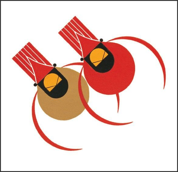 Keri designs Charley Harper's Quilts Cardinals & Holly Stocking