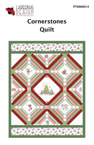 Ladeebug Design Cornerstones Quilt Pattern 61 x77