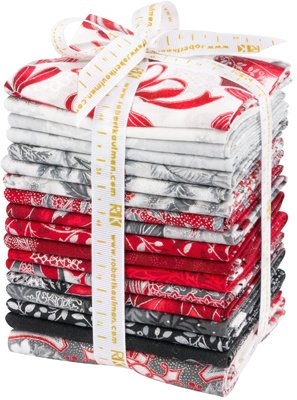 Holiday Flourish by Peggy Toole Scarlet Colorstory Fat Quarter Bundle