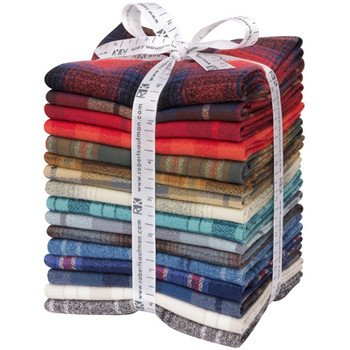 Mammoth Flannel New Colors Fat Quarter 16 pc Bundle
