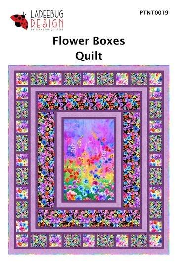 Ladeebug Design Flower Boxes Quilt Pattern  67 x 79 - copy
