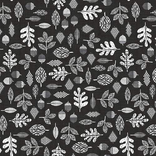 Into the Woods Dark Charcoal Leaves 4541-99