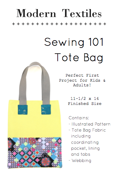 Modern Textiles Sewing 101 Tote Bag Pattern