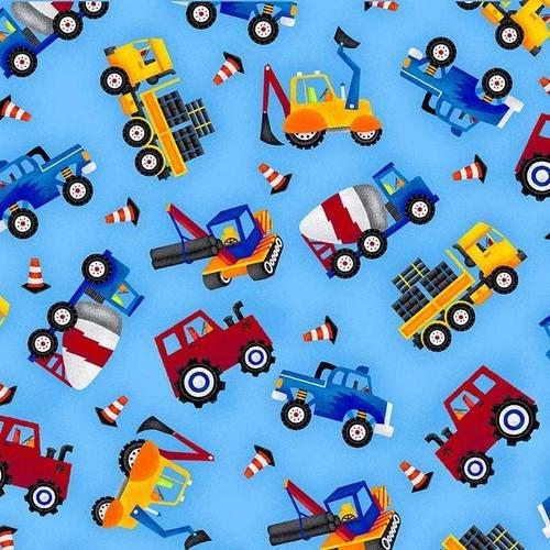 My Fav Trucks Blue Tossed Allover Trucks 2206-17