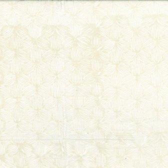 BALI BATIKS Lined Floral Oyster Q2153-265