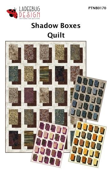 Ladeebug Design  Shadow Boxes Quilt 52 x 72