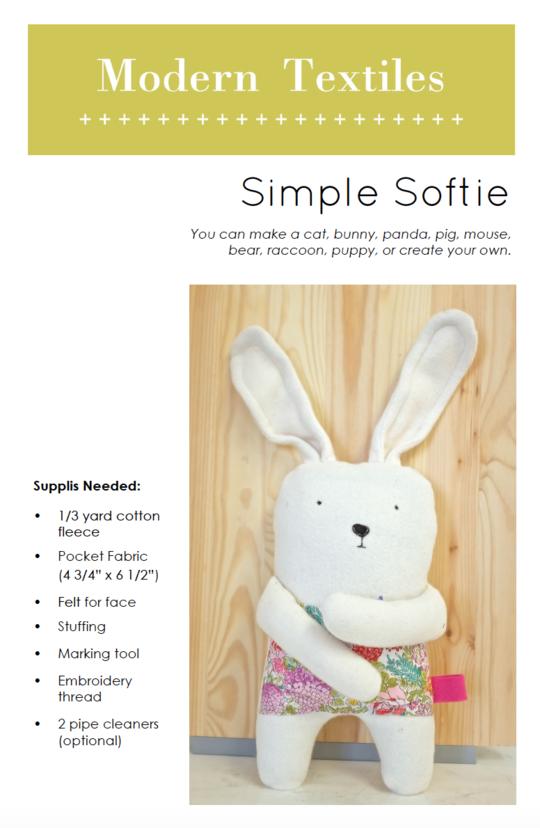 Modern Textiles Simple Softie Pattern