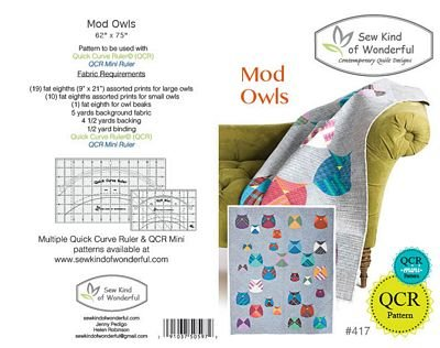 Sew Kind of Wonderful Mod Owls Pattern