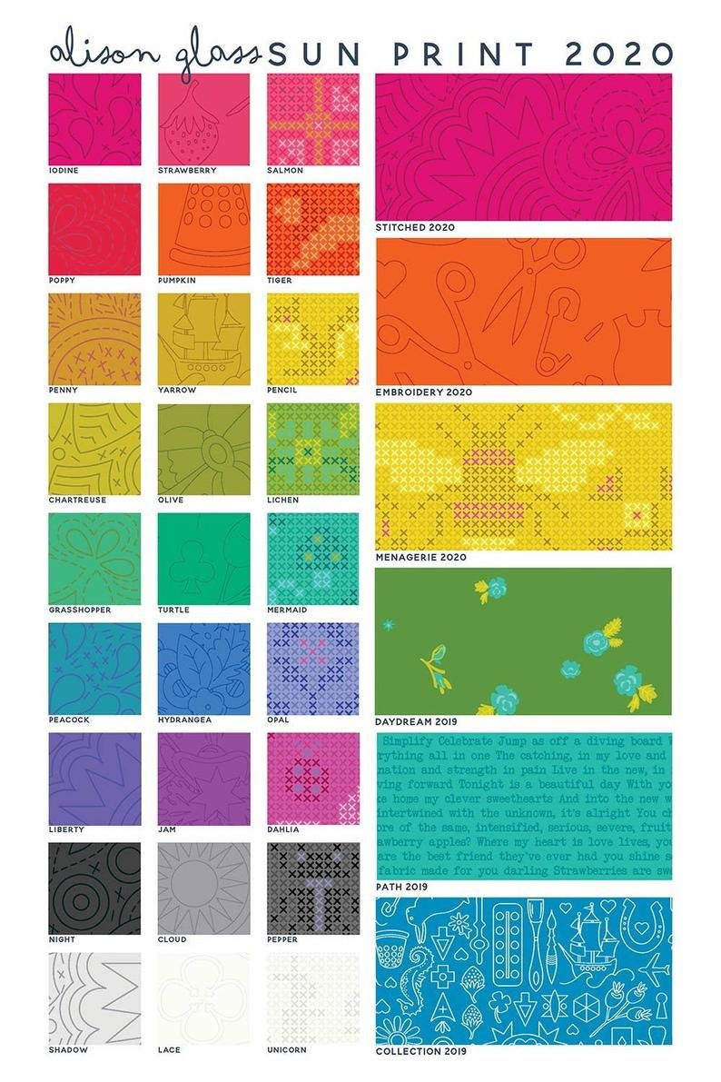 Alison Glass Sun Prints 2020 10 squares 3S-SP20-X