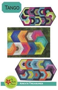 Ankas Treaasures Tango by Heather Petersen Table Runner Pattern  18 x 35