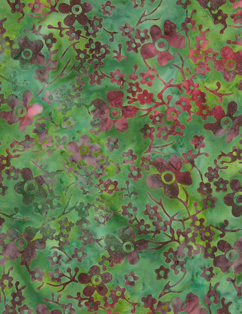 Tonga-B6388 Jade Flower Garden Batik