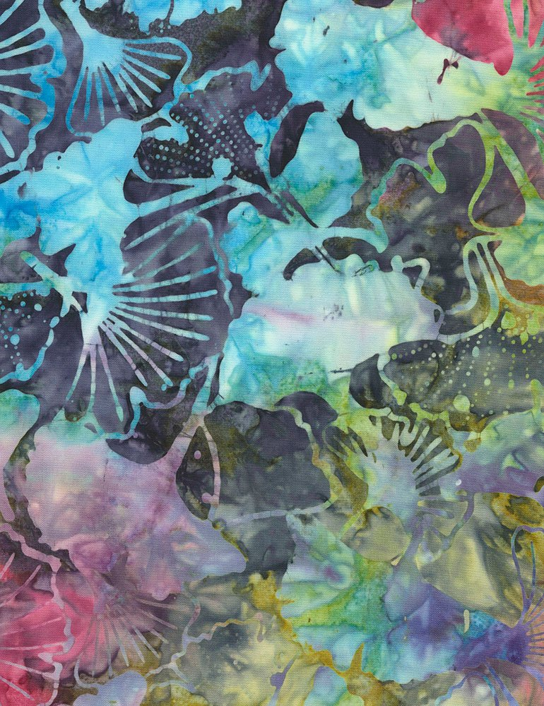 Tonga-B9230 Jewel Ginkgo Leaf Batik