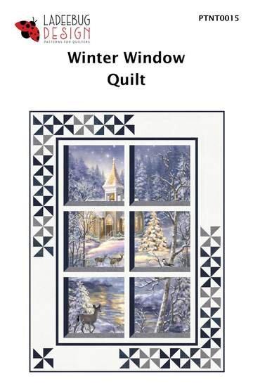 Ladeebug Design  Winter Window Quilt Pattern 38 x 51