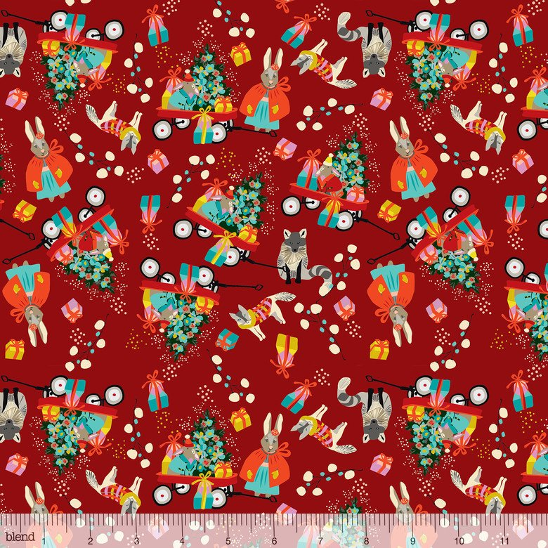 Anna Griffin A Winters Tail-Marshmallow Morning Red christmas