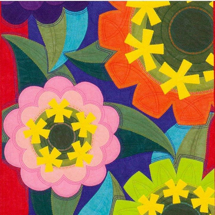 Cherrywood Zinnia quilt Pattern by Jane Sassaman