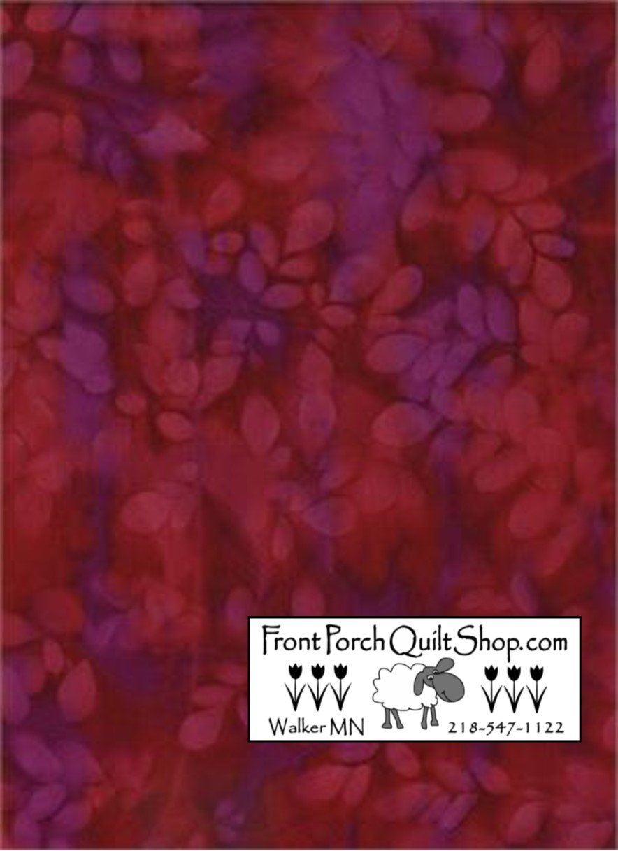 Bali Sun Batiks Red/Purple 0618