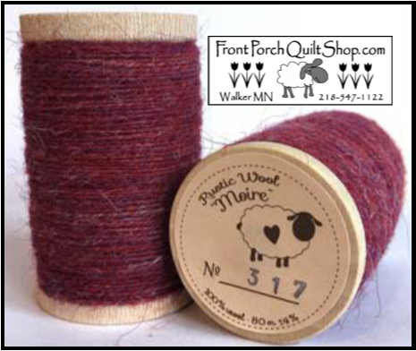 Rustic Wool Moire Threads No.317