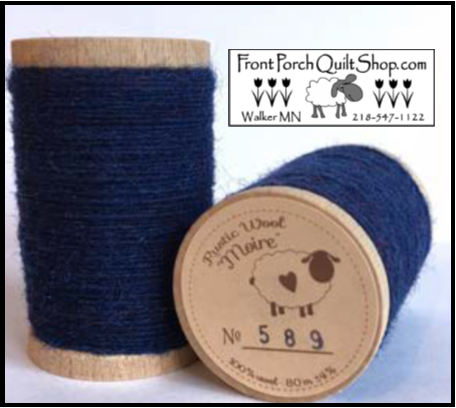 Rustic Wool Moire Threads No.589