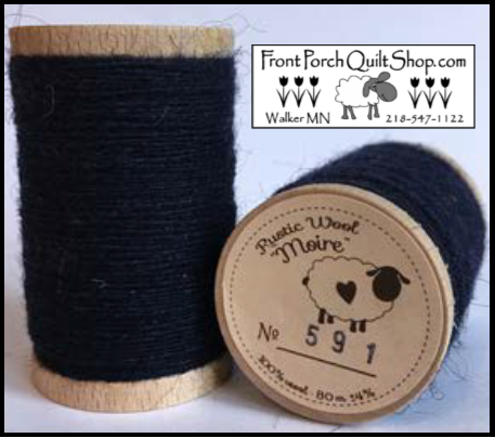 Rustic Wool Moire Threads No.591