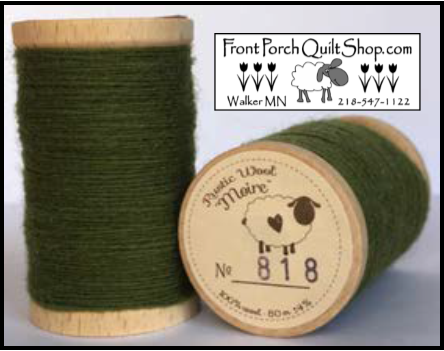 Rustic Wool Moire Threads No.818