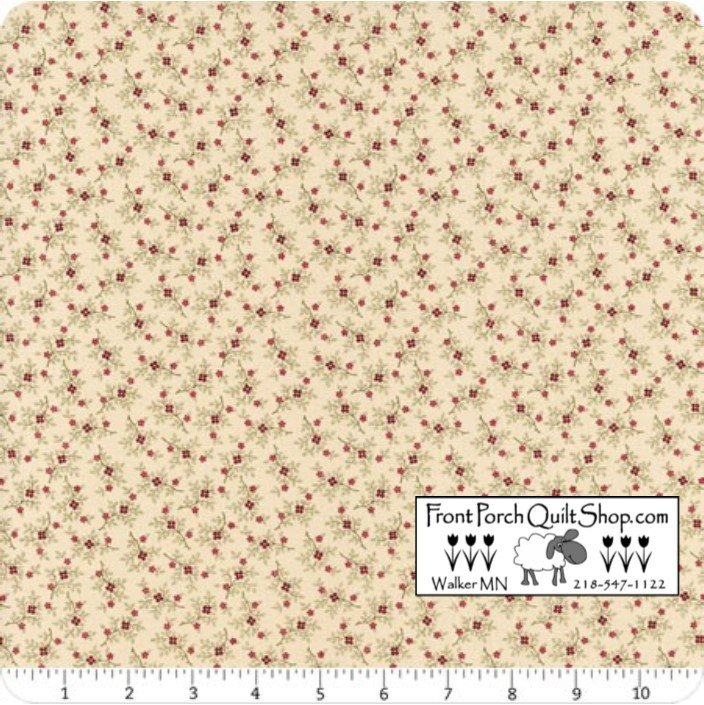 Pieceful Pines Floral Sprigs Natural