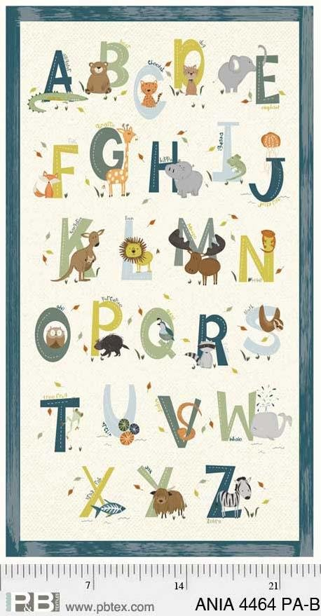 Animal Alphabet Panel Blue